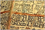 An original codex of Mayan writing
